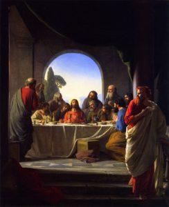 Judas verlässt das letzte Abendmahl