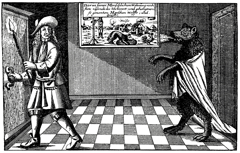 Der Werwolf von Ansbach in Michael Leichts Wohnung