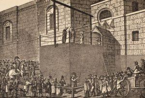 Galgen beim Newgate Prison, ca. 1800