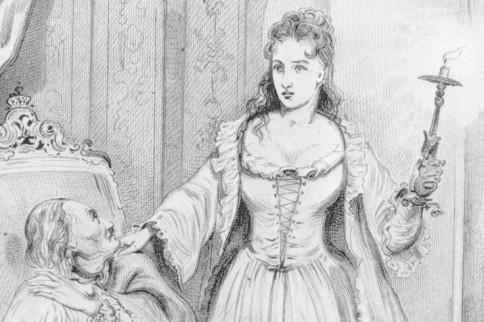 Die Weiße Frau am Totenbett von Friedrich I.